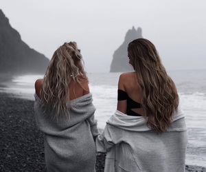 friends, photography, and beach image