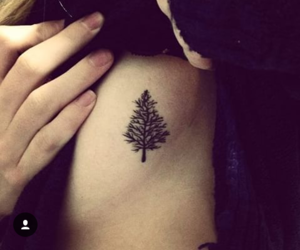 ink, small, and trees image