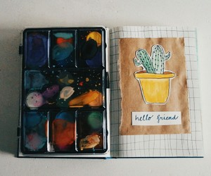 artist, plants, and waterpaint image