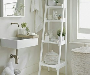 bathroom, white, and plants image