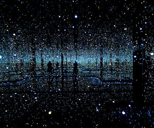 light, art, and yayoi kusama image