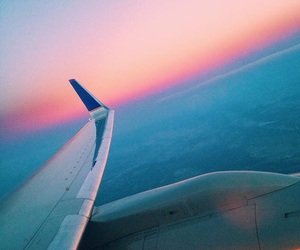 sky, tumblr, and plane ride image