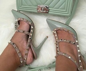 high heels, shoes, and Valentino image