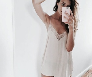 fashion, girl, and slip dress image
