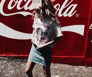 fashion, red, and coca cola image