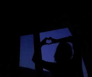heart, night, and tumblr image
