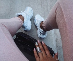chill, nails, and outfit image