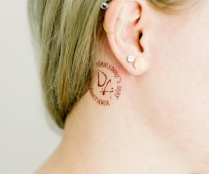 harry potter, Piercings, and tattoo image