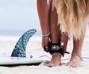 surf, beach, and girl image