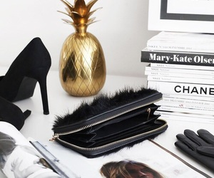 books, chanel, and clutch image