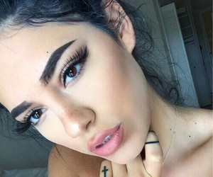 beautiful, brown eyes, and girl image