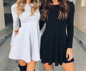 black&white, cute, and dress image
