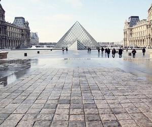 paris, louvre, and city image