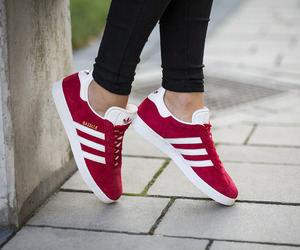 addidas, gazelle, and red image
