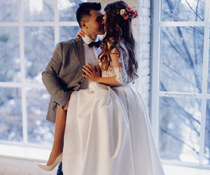 bride, style, and couple image