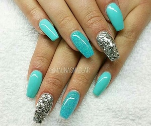 Dream, nails, and turquoise image