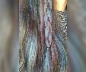 cheveux, hair style, and unicorn image