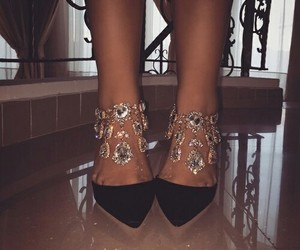heels, shoes, and diamond image