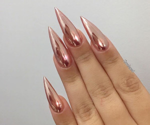 nails, style, and rose gold image