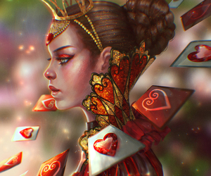 alice in wonderland, art, and red queen image