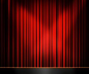 flickr, red, and RED CURTAIN image