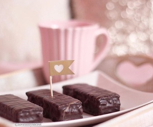 chocolate, pastel, and sweet image