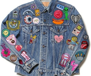 jacket, denim, and grunge image