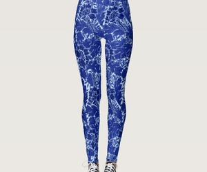 blue, leggings, and william morris image