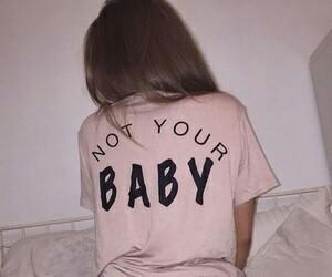 girl, baby, and dark image