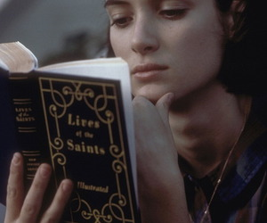 winona ryder and book image