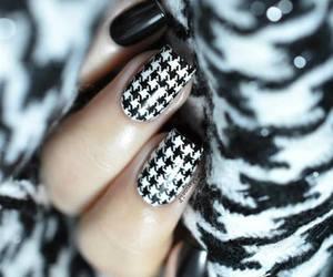 black, nails, and fashion image