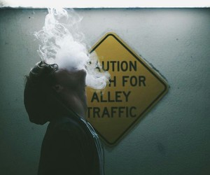 smoke, boy, and grunge image