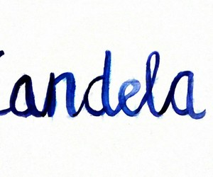 blue, caligraphy, and lettering image