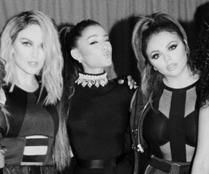 black and white, ariana grande, and jesy nelson image