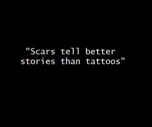 quotes, scars, and tattoo image