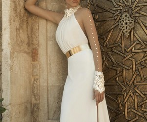 beautiful, wedding dress, and haute couture image
