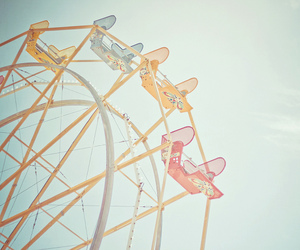 color, dreamy, and ferris wheel image