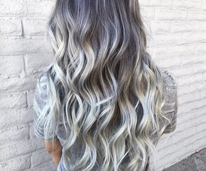 gray, hair, and silver image