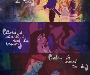 beauty and the beast, disney, and hercules image