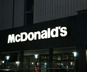 McDonalds, black, and grunge image