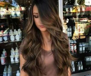 brown, hair, and balayage image