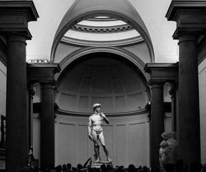 art, black and white, and david image