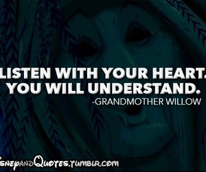 disney, quote, and grandmother willow image