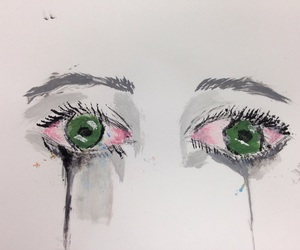 art, black, and crying image