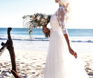 bride, flower, and love image