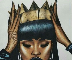 Queen, rihanna, and crown image