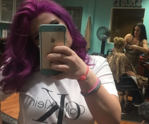 hair, new, and purple image