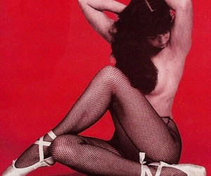 50's, ballet slippers, and fish nets image