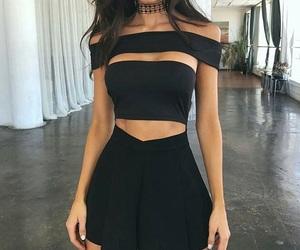 fashion, dress, and black image