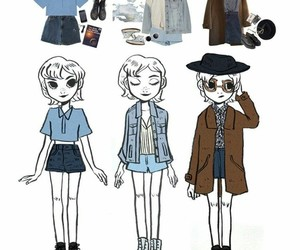 art, grunge, and outfit image